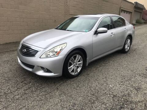 2011 Infiniti G37 Sedan for sale at MG Auto Sales in Pittsburgh PA