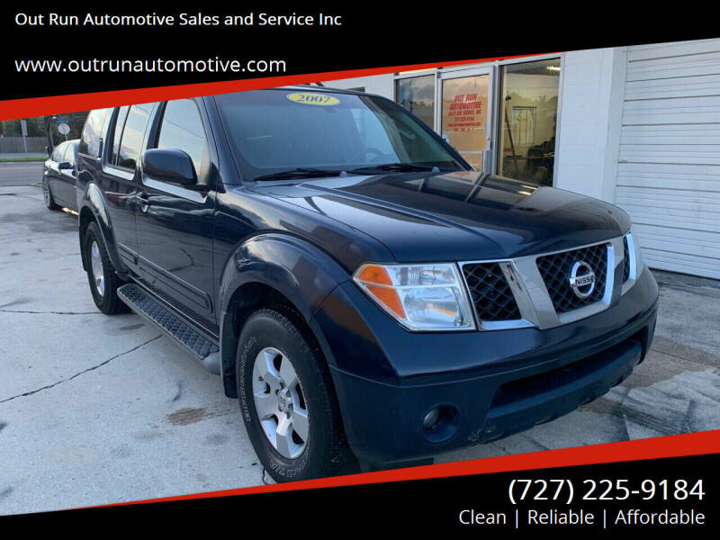 2007 Nissan Pathfinder for sale at Out Run Automotive Sales and Service Inc in Tampa FL