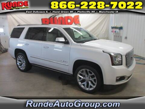 2017 GMC Yukon for sale at Runde Chevrolet in East Dubuque IL