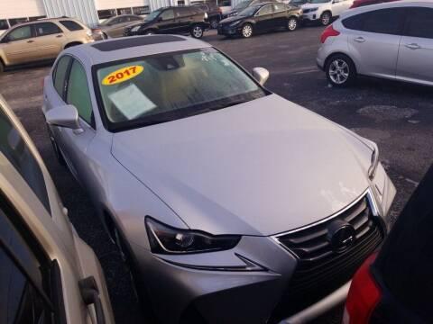 2017 Lexus IS 200t for sale at JOE BULLARD USED CARS in Mobile AL