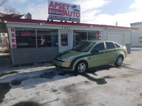 2008 Ford Focus for sale at Apsey Auto 2 in Marshfield WI