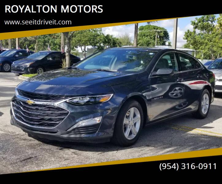 2020 Chevrolet Malibu for sale at ROYALTON MOTORS in Plantation FL