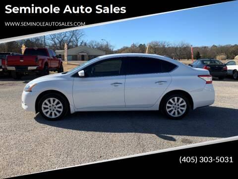 2015 Nissan Sentra for sale at Seminole Auto Sales in Seminole OK
