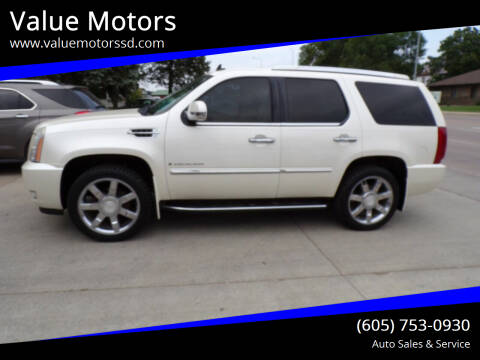 2007 Cadillac Escalade for sale at Value Motors in Watertown SD
