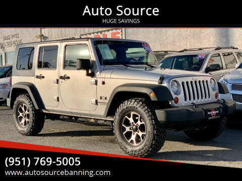 2009 Jeep Wrangler Unlimited for sale at Auto Source in Banning CA