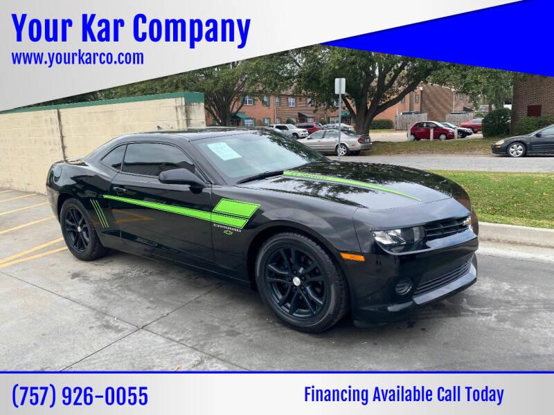 2015 Chevrolet Camaro for sale at Your Kar Company in Norfolk VA