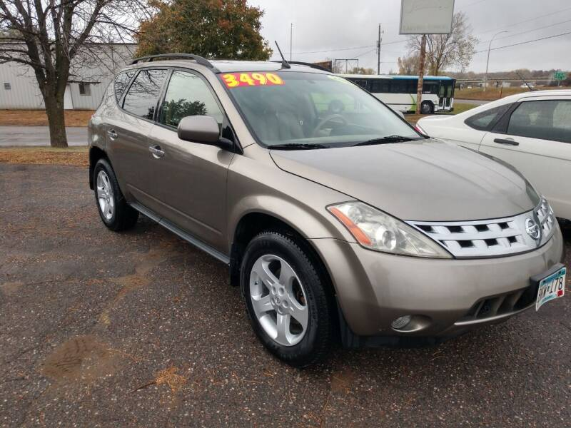 2003 Nissan Murano for sale at Kull N Claude in Saint Cloud MN