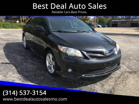 2013 Toyota Corolla for sale at Best Deal Auto Sales in Saint Charles MO