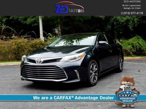 2016 Toyota Avalon for sale at Zed Motors in Raleigh NC