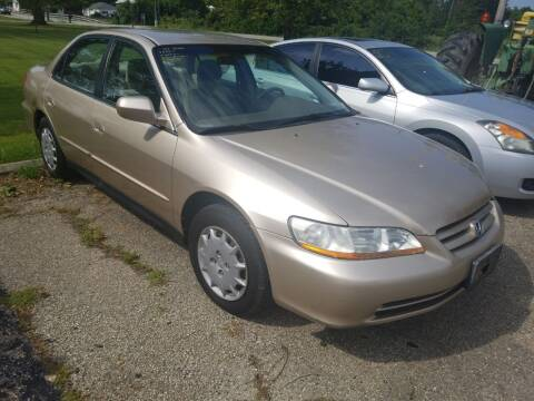 2001 Honda Accord for sale at David Shiveley in Mount Orab OH