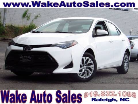 2018 Toyota Corolla for sale at Wake Auto Sales Inc in Raleigh NC