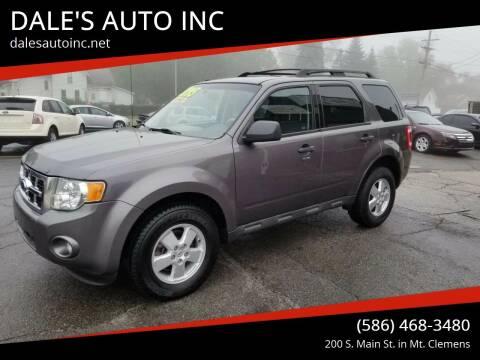 2009 Ford Escape for sale at DALE'S AUTO INC in Mt Clemens MI