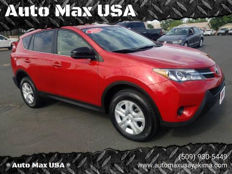 2015 Toyota RAV4 for sale at Auto Max USA in Yakima WA