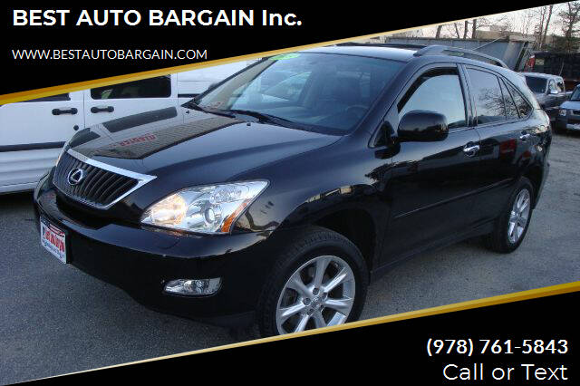 2009 Lexus RX 350 for sale at BEST AUTO BARGAIN inc. in Lowell MA