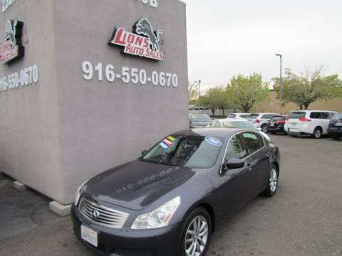 2009 Infiniti G37 Convertible for sale at LIONS AUTO SALES in Sacramento CA