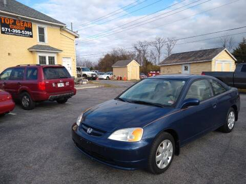 2001 Honda Civic for sale at Top Gear Motors in Winchester VA