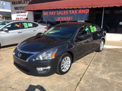 2015 Nissan Altima for sale at BRAMLETT MOTORS in Hope AR
