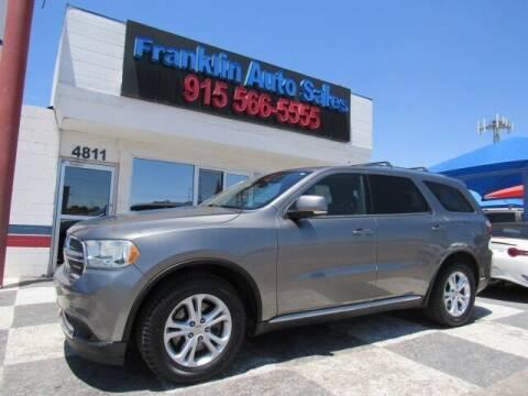 2011 Dodge Durango for sale at Franklin Auto Sales in El Paso TX
