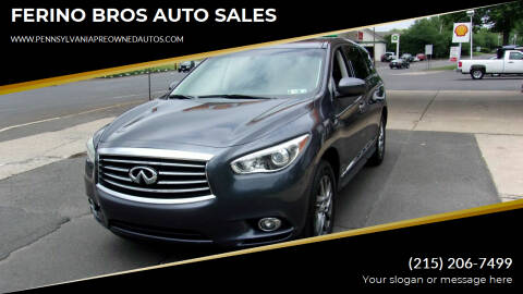 2013 Infiniti JX35 for sale at FERINO BROS AUTO SALES in Wrightstown PA