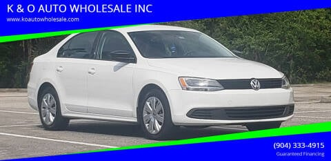 2013 Volkswagen Jetta for sale at K & O AUTO WHOLESALE INC in Jacksonville FL