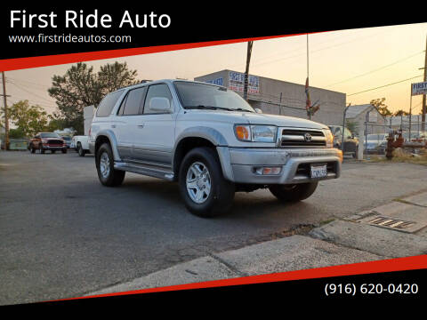 1999 Toyota 4Runner for sale at First Ride Auto in Sacramento CA