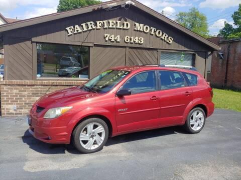 2003 Pontiac Vibe for sale at Fairfield Motors in Fort Wayne IN