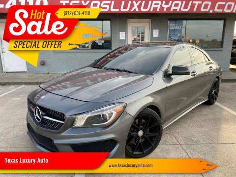 2014 Mercedes-Benz CLA for sale at Texas Luxury Auto in Cedar Hill TX