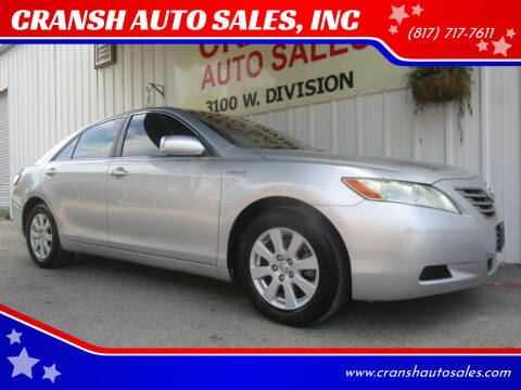 2007 Toyota Camry Hybrid for sale at CRANSH AUTO SALES, INC in Arlington TX