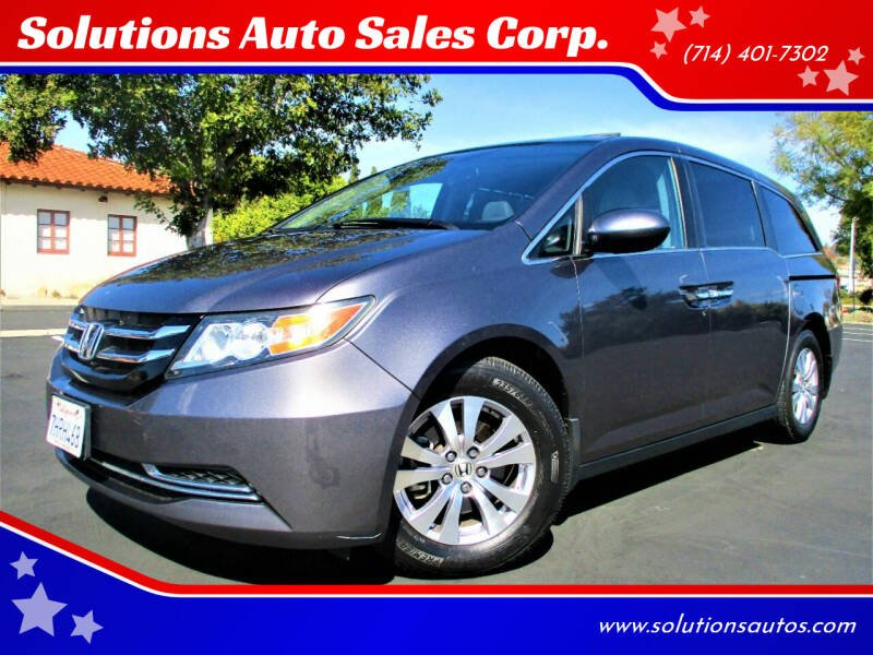 2015 Honda Odyssey for sale at Solutions Auto Sales Corp. in Orange CA