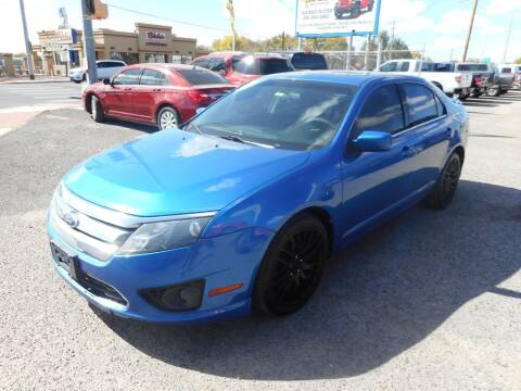 2011 Ford Fusion for sale at AUGE'S SALES AND SERVICE in Belen NM