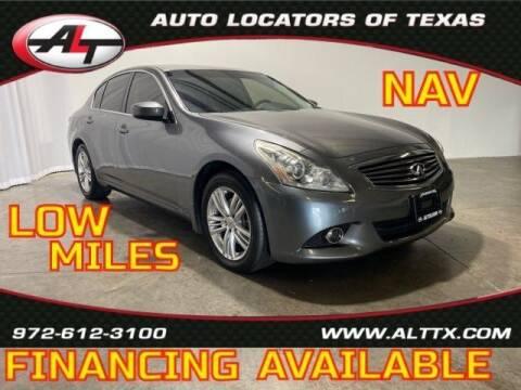 2013 Infiniti G37 Sedan for sale at AUTO LOCATORS OF TEXAS in Plano TX