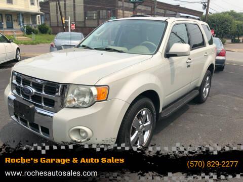 2009 Ford Escape for sale at Roche's Garage & Auto Sales in Wilkes-Barre PA
