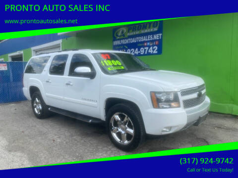 2007 Chevrolet Suburban for sale at PRONTO AUTO SALES INC in Indianapolis IN