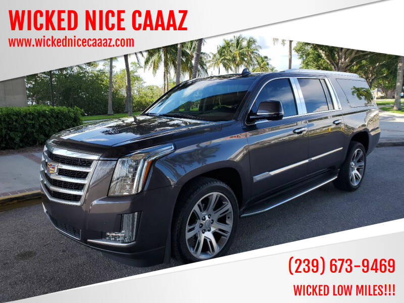 2016 Cadillac Escalade ESV for sale at WICKED NICE CAAAZ in Cape Coral FL