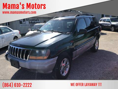 2000 Jeep Grand Cherokee for sale at Mama's Motors in Greer SC