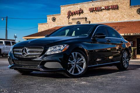 2018 Mercedes-Benz C-Class for sale at Jerrys Auto Sales in San Benito TX