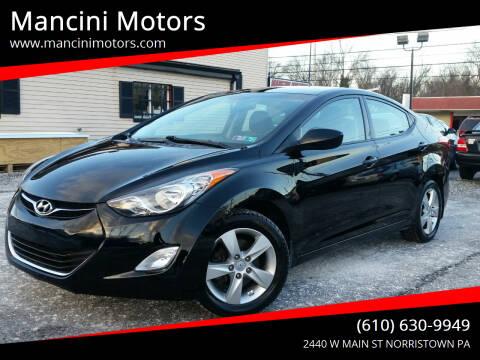 2013 Hyundai Elantra for sale at Mancini Motors in Norristown PA