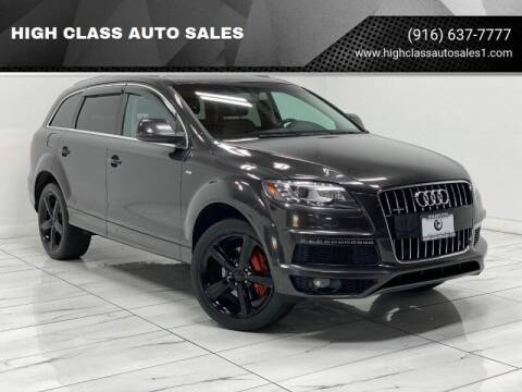 2010 Audi Q7 for sale at HIGH CLASS AUTO SALES in Rancho Cordova CA