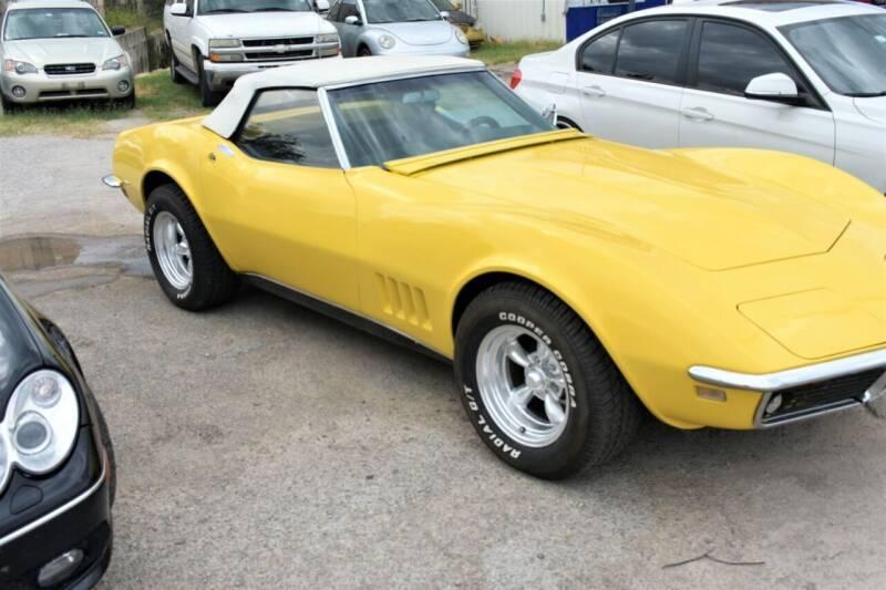 1968 Chevrolet Corvette for sale at WF AUTOMALL in Wichita Falls TX