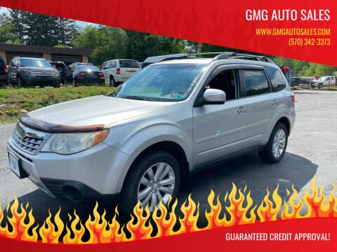 2011 Subaru Forester for sale at GMG AUTO SALES in Scranton PA