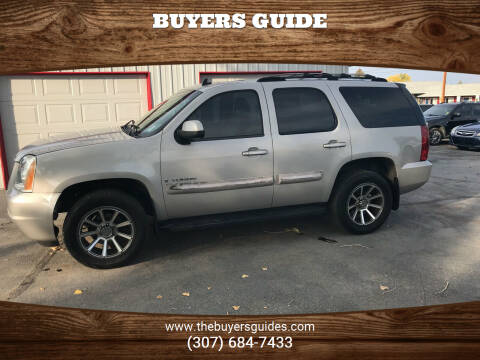 2007 GMC Yukon for sale at Buyers Guide in Buffalo WY