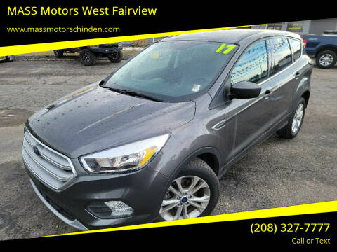 2017 Ford Escape for sale at MASS Motors West Fairview in Boise ID