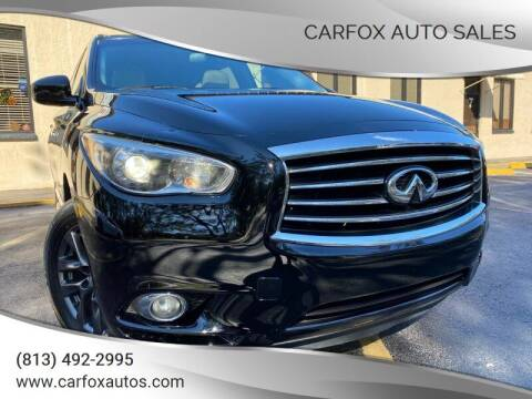 2015 Infiniti QX60 for sale at Carfox Auto Sales in Tampa FL