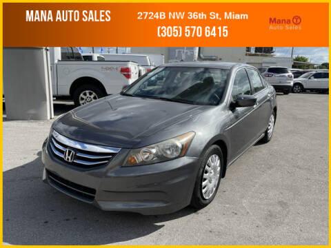 2012 Honda Accord for sale at MANA AUTO SALES in Miami FL