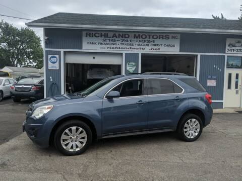 2011 Chevrolet Equinox for sale at Richland Motors in Cleveland OH