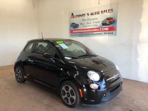 2017 FIAT 500e for sale at Antonio's Auto Sales in South Houston TX