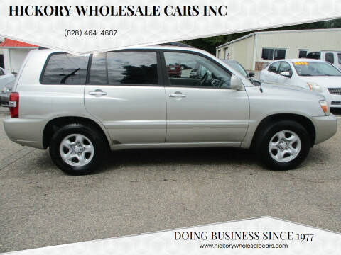 2006 Toyota Highlander for sale at Hickory Wholesale Cars Inc in Newton NC