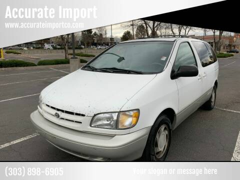 1998 Toyota Sienna for sale at Accurate Import in Englewood CO