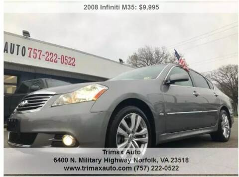 2008 Infiniti M35 for sale at Trimax Auto Group in Norfolk VA