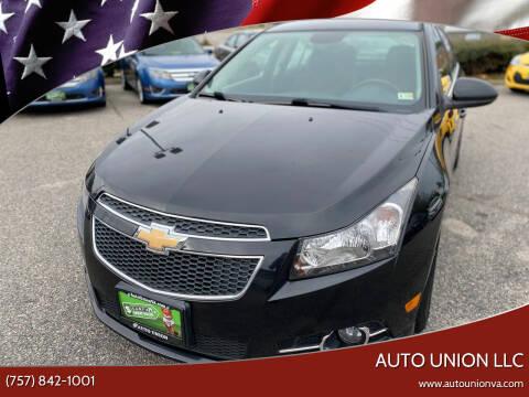 2014 Chevrolet Cruze for sale at Auto Union LLC in Virginia Beach VA